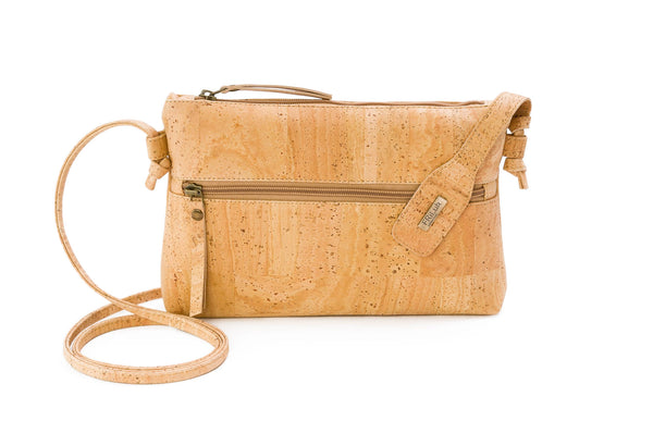 beige cork purse