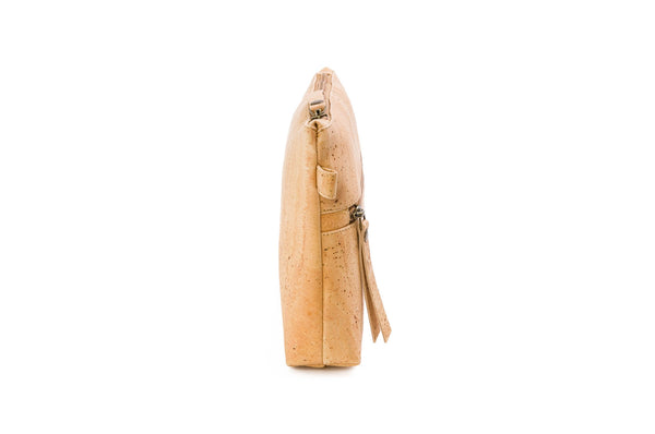 beige vegan crossbody purse
