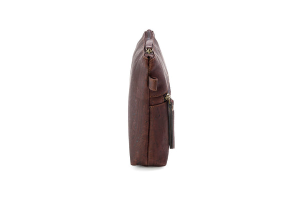 brown vegan crossbody purse
