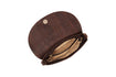 cork clutch purse brown