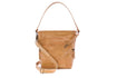 faux leather tote beige