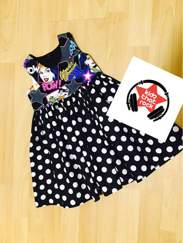 Wonder Woman Dress - Black Spot