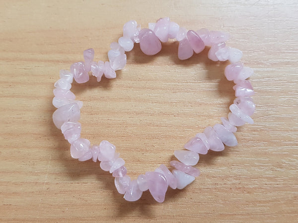 Rose Quartz Chip Bracelet - Earth's Treasures