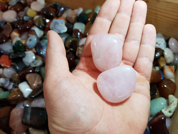 Rose Quartz Tumbles XL - Earth's Treasures