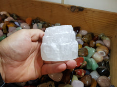 Selenite (Satin Spar) Candle Holder - Earth's Treasures