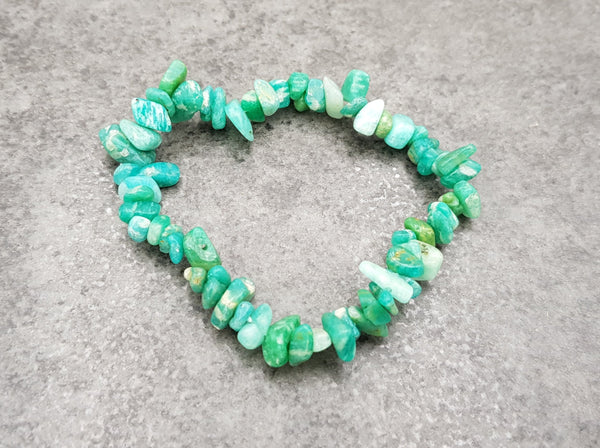 Amazonite Chip Bracelet - Earth's Treasures