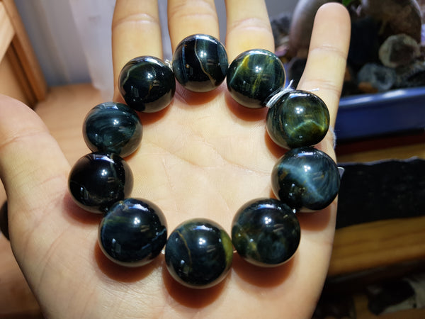 Blue Tiger's Eye Bracelet 20mm - Earth's Treasures