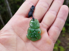 Greenstone / Pounamu / NZ Jade Tiki Necklace - Earth's Treasures