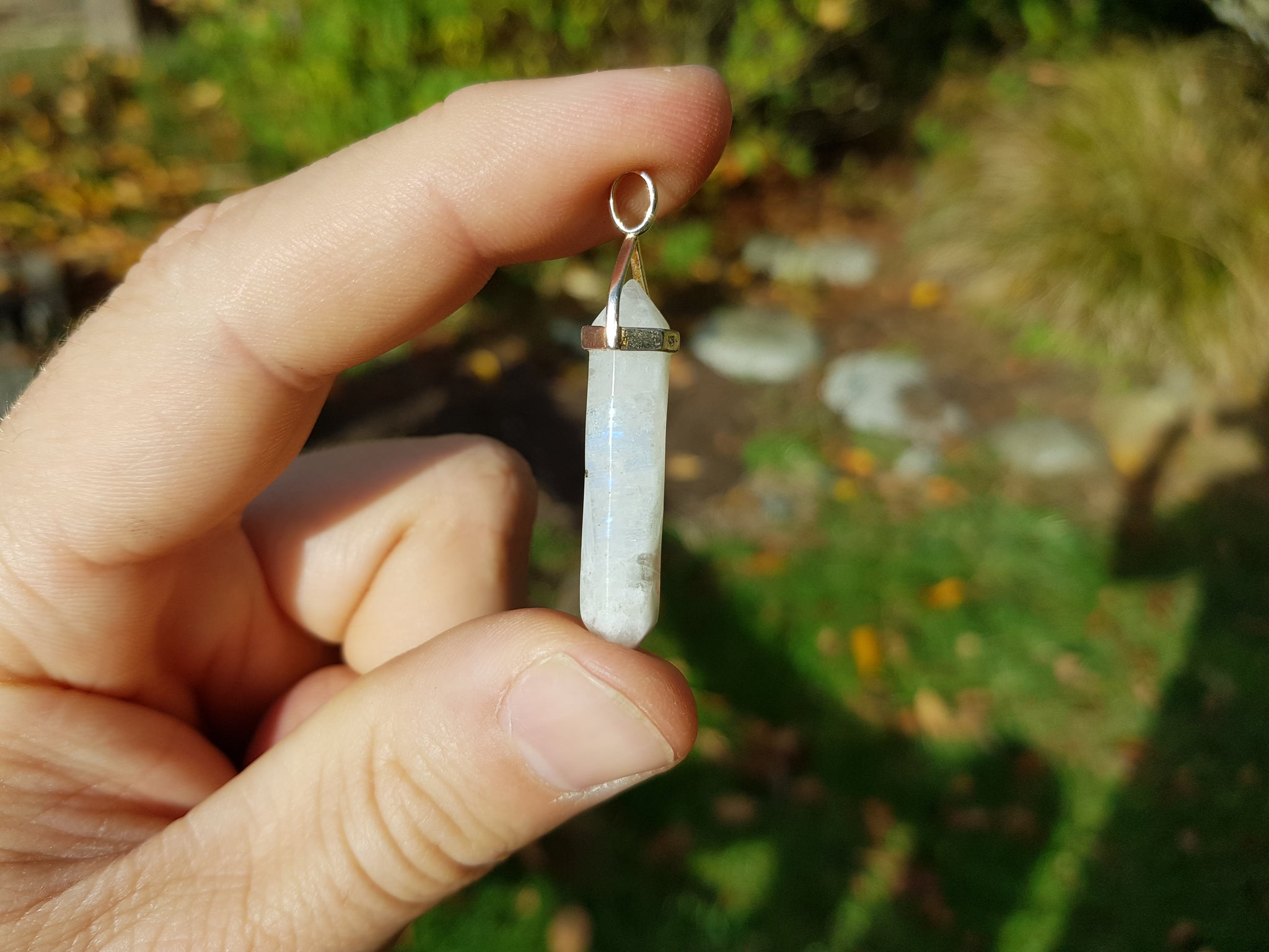 Rainbow Moonstone Pendant - Earth's Treasures