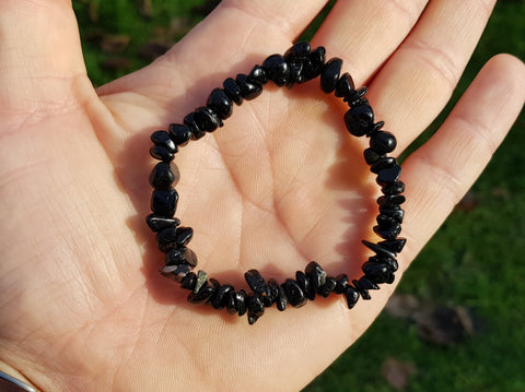 Black Tourmaline Chip Bracelet - Earth's Treasures