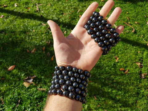 Shungite Bracelet 12mm - Earth's Treasures