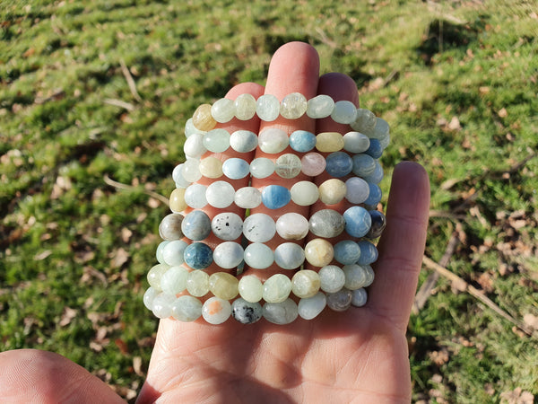 Aquamarine Nugget Bracelet - Earth's Treasures
