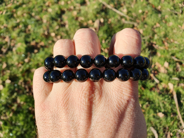 Black Tourmaline Bracelet 10mm - Earth's Treasures
