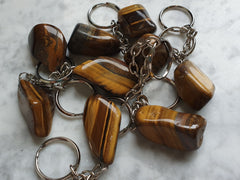 Tiger's Eye Keychain - Earth's Treasures