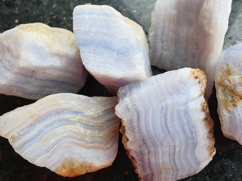 Blue Lace Agate Rough - Earth's Treasures