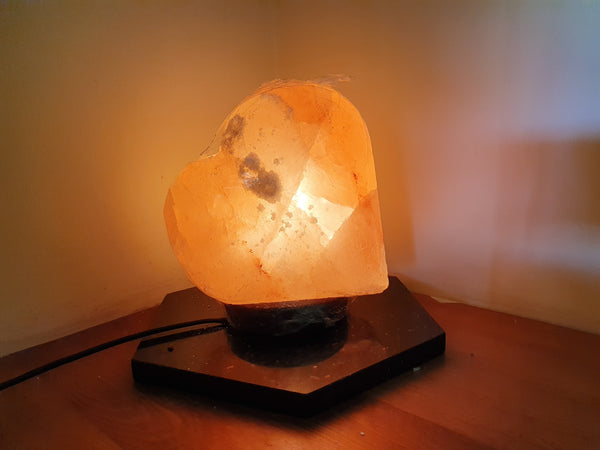 Himalayan Salt Heart Lamp - Earth's Treasures