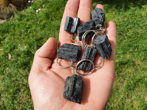Black Tourmaline Keychain