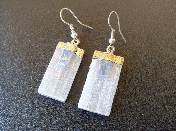 Selenite & Kyanite Earrings