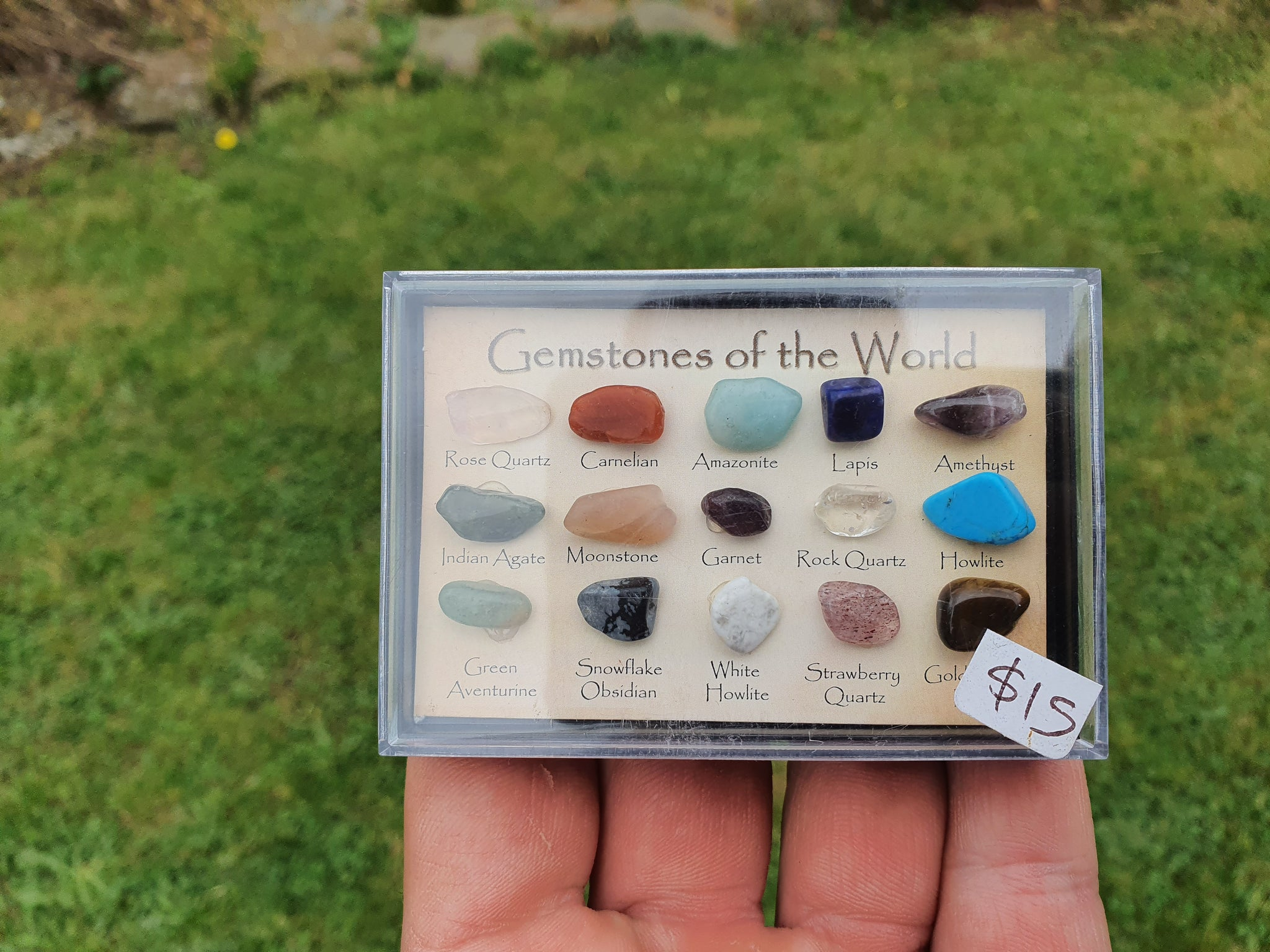 Mixed tumble stone collection