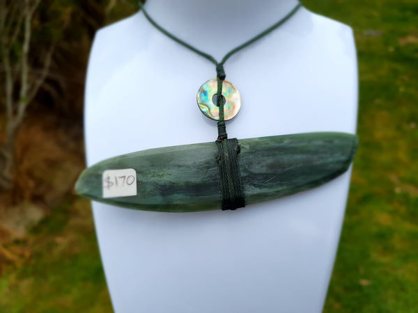 Greenstone / Pounamu & Paua Necklace