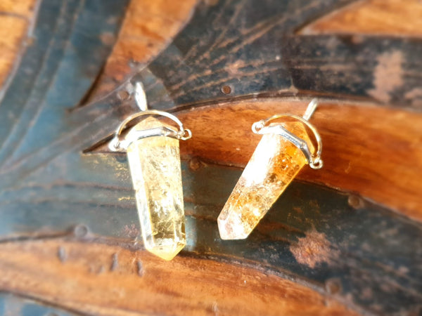 Citrine Swing Pendant 925