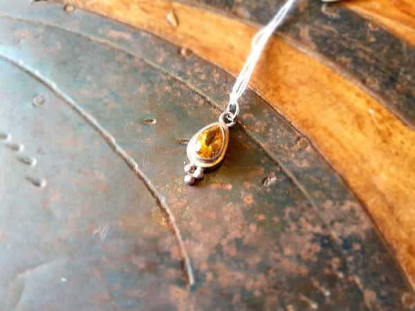 Citrine Gemstone Pendant 925