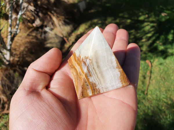 Banded Calcite / Travertine Pyramid