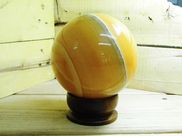Orange Calcite Sphere Large - Earth's Treasures