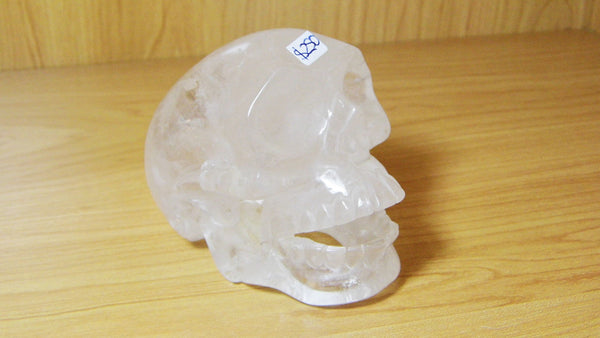 Clear Quartz Open Mouth Skull - Earth's Treasures
