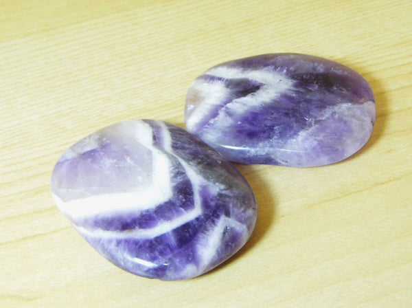 Chevron Amethyst Pocket Stone - Earth's Treasures