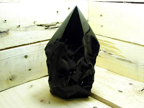 Obsidian Semi-Polished Point - Earth's Treasures