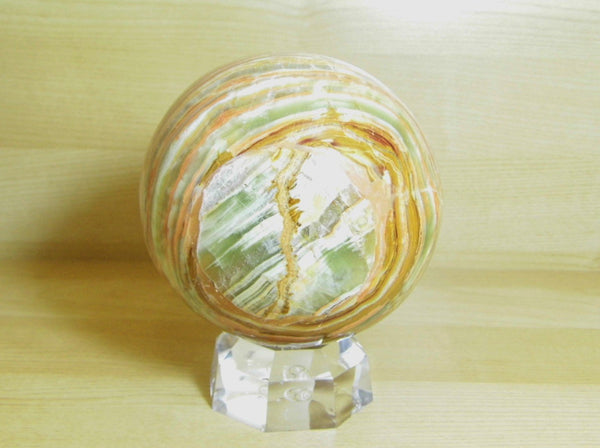 Travertine (Onyx Marble) Sphere - Earth's Treasures