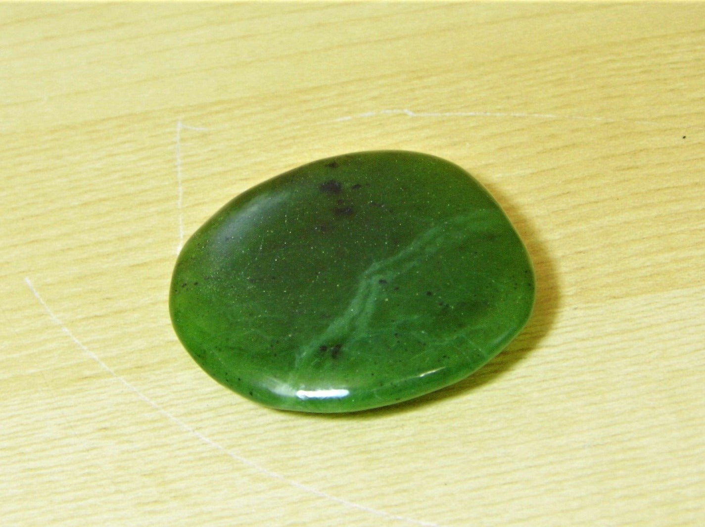 Greenstone (Nephrite Jade) Pocket Stone - Earth's Treasures