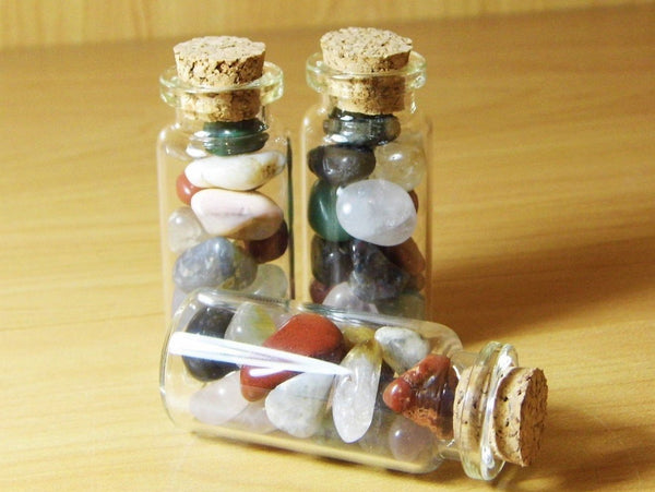 Tiny Bottle of Mixed Tumbles - Earth's Treasures