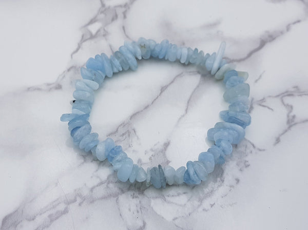 Aquamarine Chip Bracelet - Earth's Treasures