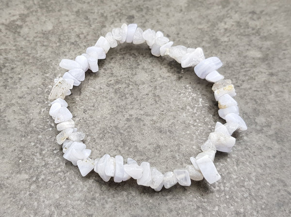 Blue Lace Agate Chip Bracelet - Earth's Treasures