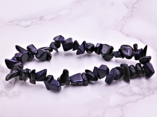 Blue Sandstone Chip Bracelet - Earth's Treasures