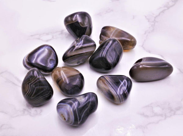 Botswana Agate Tumbles Med - Earth's Treasures