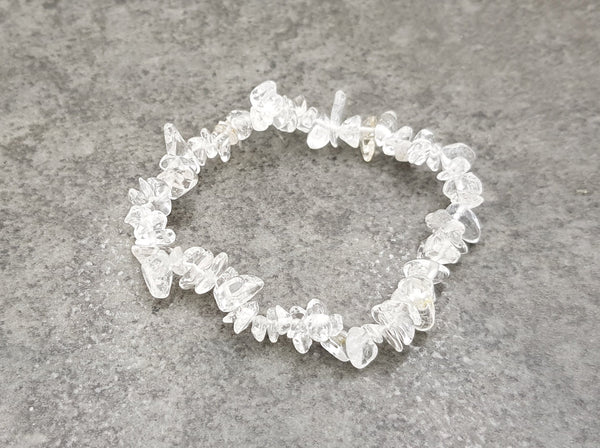 Clear Quartz Chip Bracelet - Earth's Treasures