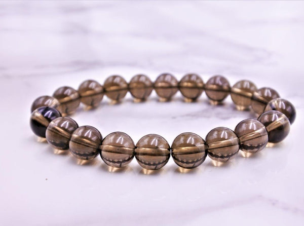 Smoky Quartz Bracelet 8mm - Earth's Treasures