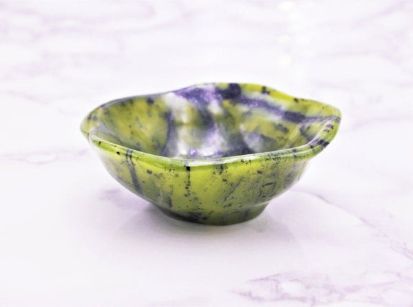 Greenstone (Nephrite Jade) Bowl - Earth's Treasures