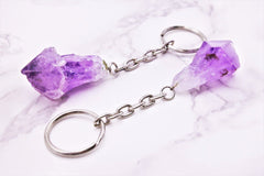 Amethyst Natural Point Keychain - Earth's Treasures