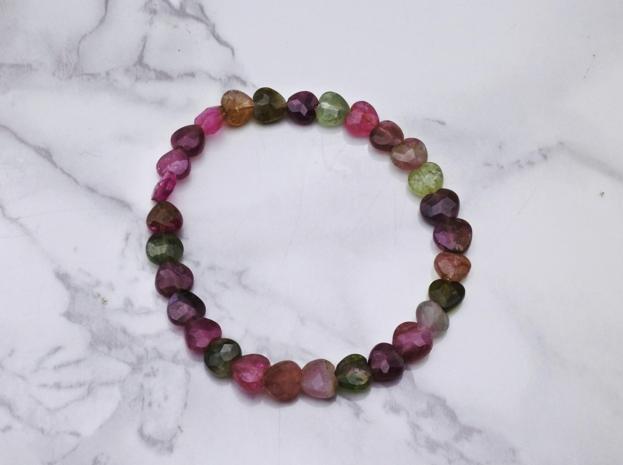 Mixed Tourmaline Heart Bracelet Med - Earth's Treasures