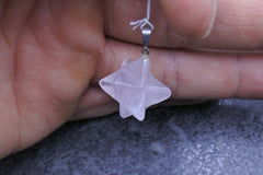 Rose Quartz Merkaba Pendant - Earth's Treasures