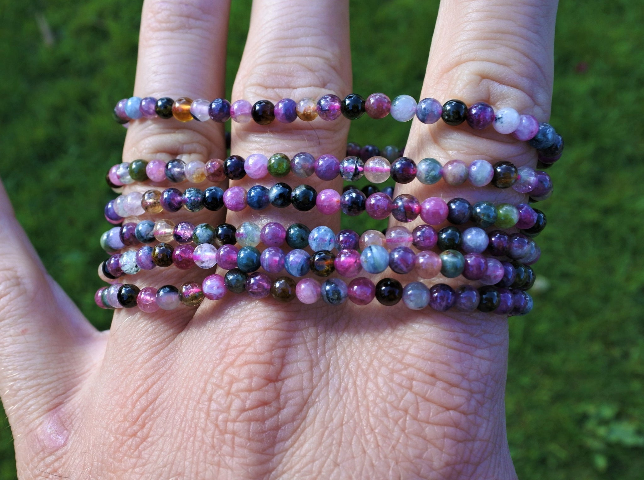 Mixed Tourmaline Bracelet 4mm - Earth's Treasures