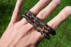Smoky Quartz Nugget Bracelet - Earth's Treasures