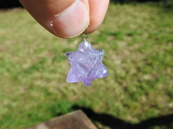 Amethyst Merkaba Pendant - Earth's Treasures
