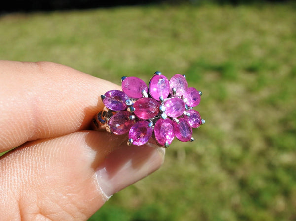 Ruby Flower Ring - Earth's Treasures