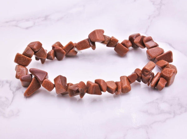 Gold Sandstone Chip Bracelet - Earth's Treasures