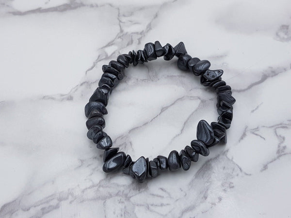 Hematite Chip Bracelet - Earth's Treasures